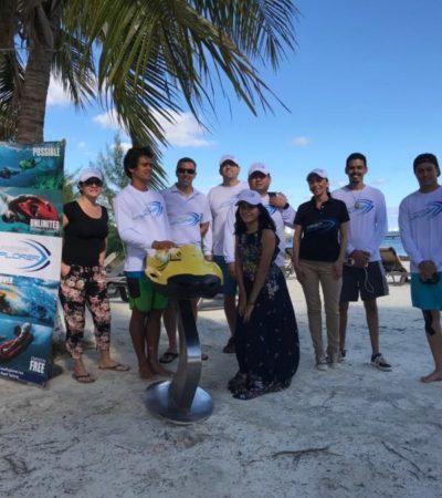 Presentan nuevos deslizadores subacuáticos en Marina Chac Chi