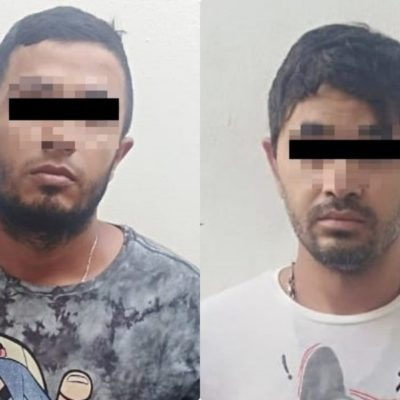 Difunden fotos de los presuntos sicarios detenidos tras ejecutar a una persona en la colonia Colosio de Playa del Carmen