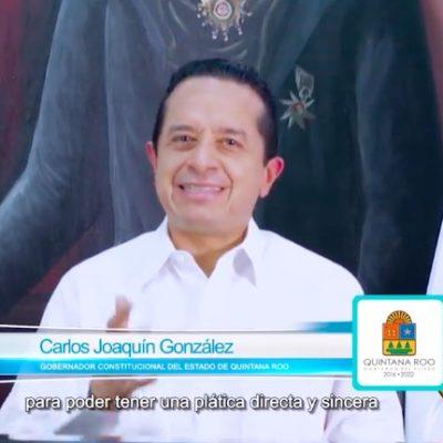 """LE CAE AL GOBERNADOR EL 'VEINTE' DE LA INSEGURIDAD EN QR: """"No les voy a mentir, afrontamos una situación complicada"""", dice en mensaje grabado tras asesinato de un empresario en Cancún"""