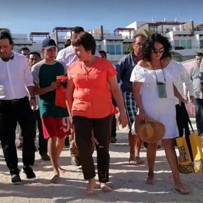 """A ECOCIDAS, """"LOS COLGARÍA DE LAS PALMERAS"""": Tatiana Clouthier se reúne con Alcaldesa en Playa del Carmen para conocer la problemática local"""