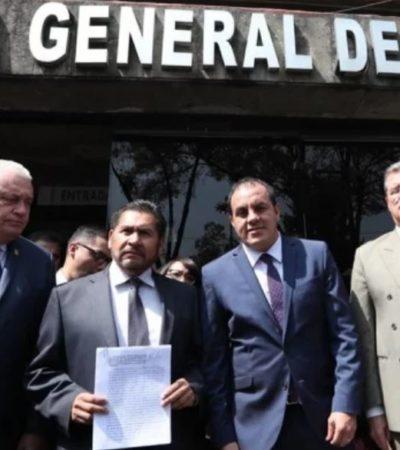 Denuncia Cuauhtémoc Blanco a Graco y familiares ante la FGR por delincuencia organizada y otros delitos