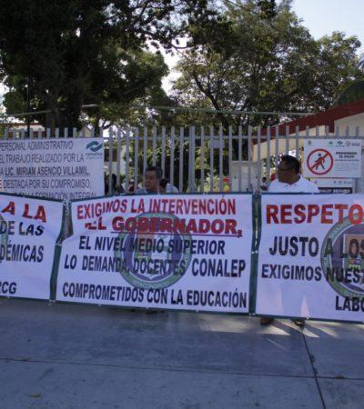 Comenzará este viernes paro indefinido de maestros del Conalep en Cancún