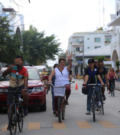 Promueve Alcaldesa alternativas de transporte sustentable para Playa del Carmen