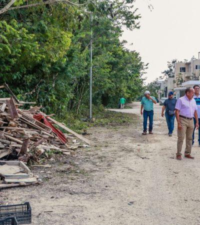 Ordenan limpieza general de calles de la colonia Tumben Káh en Tulum