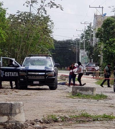 DOS ATAQUES EN CANCÚN: Ejecutan a un hombre en la Región 216 y dejan herido a otro en la Región 100