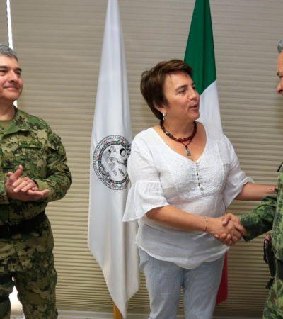 Reconoce Ayuntamiento de Solidaridad apoyo de las fuerzas federales en seguridad