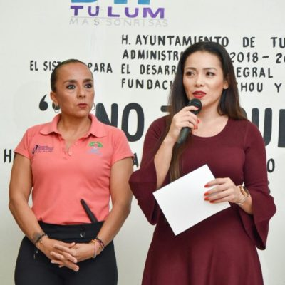 Imparten plática a jóvenes y niños para el manejo adecuado del fuego en Tulum