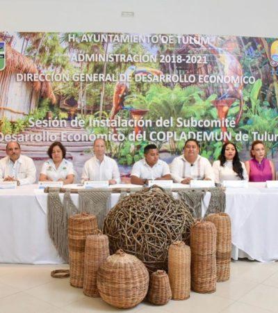 Instalan Subcomité Sectorial de Desarrollo Económico en Tulum