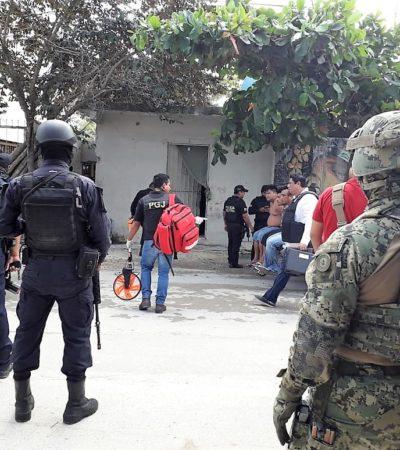 OPERATIVO CONTRA NARCOMENUDEO EN TULUM: Aseguran inmueble, detienen a cuatro narcos e incautan droga