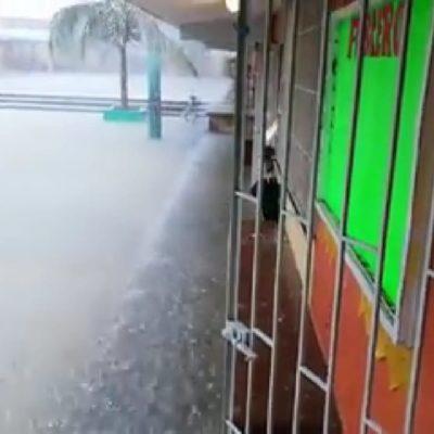 Realizan autoridades recorridos de supervisión en zonas afectadas por lluvias atípicas en Playa del Carmen
