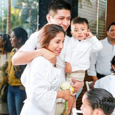 Celebran Bodas Colectivas en Tulum: 17 parejas formalizan su unión ante el Registro Civil