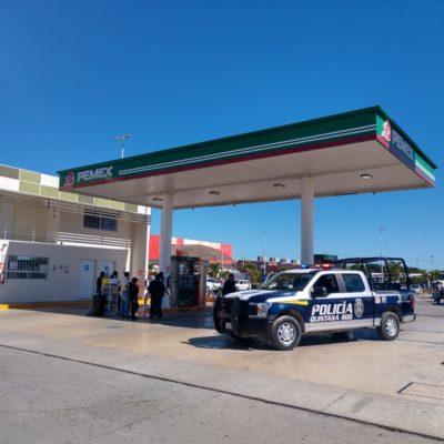 Asaltan empistolados gasolinera de la Avenida Chac Mool en Cancún