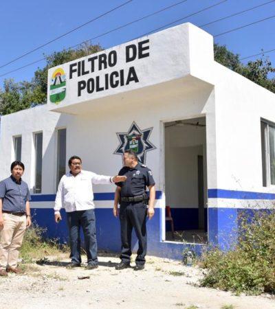 Ordena Víctor Mas rehabilitación de casetas y filtros de la Policía Municipal en Tulum