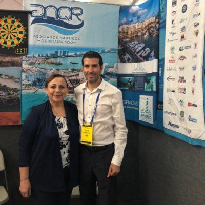 Asociados Náuticos promocionaron servicios turísticos de QR durante el MiamiInternational Boat Show2019