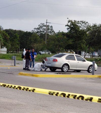 SE CONSUMA OTRA EJECUCIÓN EN CANCÚN: Muere joven baleado ayer cuando salía de un Soriana por la Avenida Chac Mool