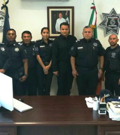 Se reúne Subsecretario de Seguridad de Quintana Roo con el Director y mandos de la policía de Solidaridad