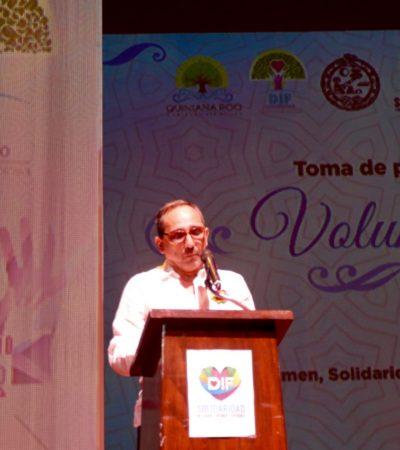 Rinde protesta Juan Carlos Beristain como presidente honorario del DIF en Solidaridad