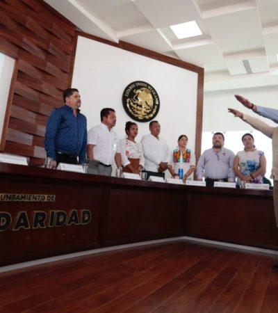 Nombra Cabildo a titular de transporte y dona terreno para construir escuelas en Solidaridad