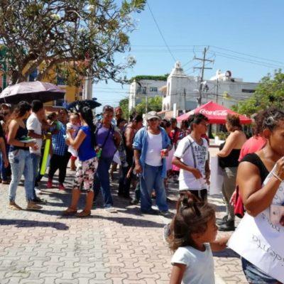 Habitantes de Nueva Esperanza exigen servicios públicos al gobierno municipal de Solidaridad