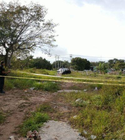 Con disparos en el cuello y rostro, ejecutan casi al amanecer a una persona en la SM 241 de Cancún