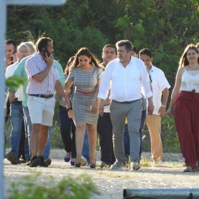 Acusa activista 'oportunismo político' de titular de Fonatur por visita a Malecón Tajamar