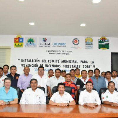 Instalan en Tulum el Comité Municipal para la Prevención de Incendios Forestales 2019