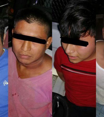 Detienen a cuatro asaltantes de Oxxo en Playa del Carmen