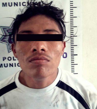 Detienen a presunto responsable de robo a casa habitación en Cozumel
