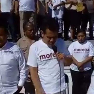 Militantes de Morena reúnen firmas contra alianza con PT y PVEM