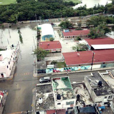 Fuertes lluvias e inundaciones provocan ausentismo escolar en Cancún