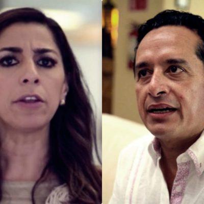 """NUEVO 'AGARRÓN' ENTRE SENADORA Y GOBERNADOR: Marybel Villegas reta a Carlos Joaquín a que """"salga a la calle sin avisar"""" para que vea que no es ella la que organiza rechiflas ni abucheos en su contra"""