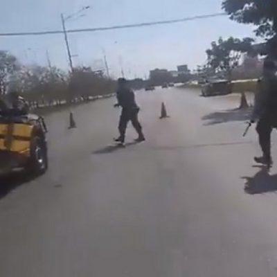 CAPTURAN EN MÉRIDA A BANDA DE COLOMBIANOS: Detienen a 9 extranjeros con armas, drogas y una camioneta rentada en Cancún