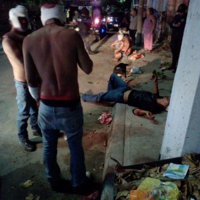 SE DIERON HASTA CON LA CUBETA: Riña familiar deja cinco heridos en Playa del Carmen