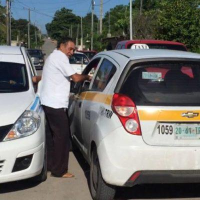 Taxistas de Chetumal y Bacalar podrían firmar convenio para evitar nuevos enfrentamientos entre conductores