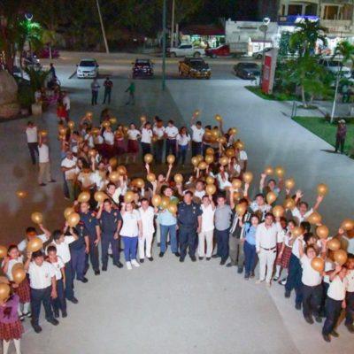 Autoridades conmemoran el Día Internacional contra el Cáncer Infantil en Tulum