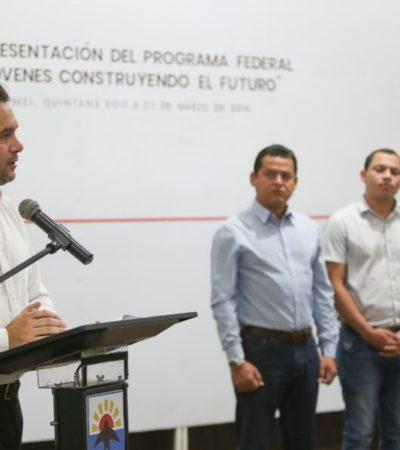 El gobierno de Cozumel pone en marcha el programa federal 'Jóvenes Construyendo el Futuro'