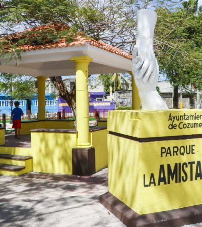 Mejora Ayuntamiento imagen de parques en Cozumel