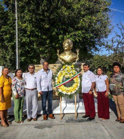 Gobierno de Isla Mujeres conmemora el 213 aniversario del natalicio de Benito Juárez