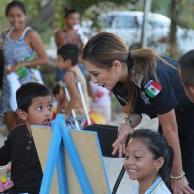 Para impulsar la cercanía entre policías y habitantes de Isla Mujeres, autoridades realizan 'Una tarde de feria con tu policía'