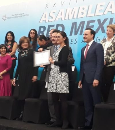 Participan autoridades de Isla Mujeres en la XXVIII Asamblea de la Red Mexicana de Ciudades Amigas de la Niñez