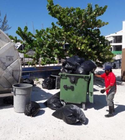 Gobierno de Isla Mujeres refuerza trabajos de limpieza en la zona urbana y turística