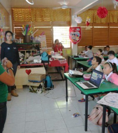 Autoridades de Isla Mujeres fomentan el cuidado de la fauna marina