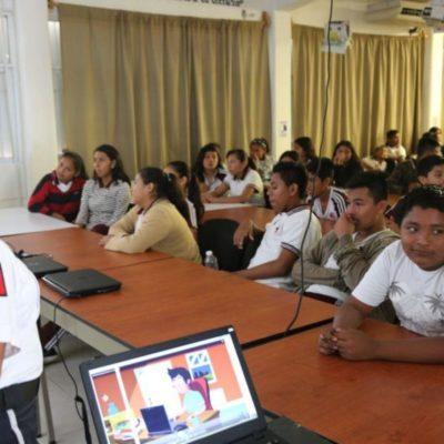 Elementos de Seguridad Pública de Isla Mujeres visitan escuelas y colonias para brindar conferencias y pláticas para prevenir el abuso infantil