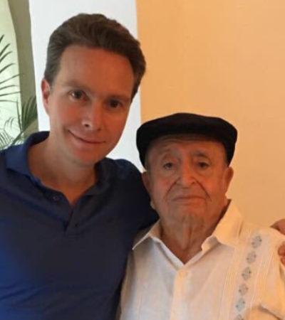 Levanta la mano el 'abuelo incómodo' de Manuel Velasco para la construcción del Tren Transístmico