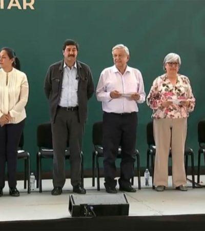 Visita AMLO Chihuahua; lo recibe el gobernador panista promotor del 'Yo si quiero contrapesos'