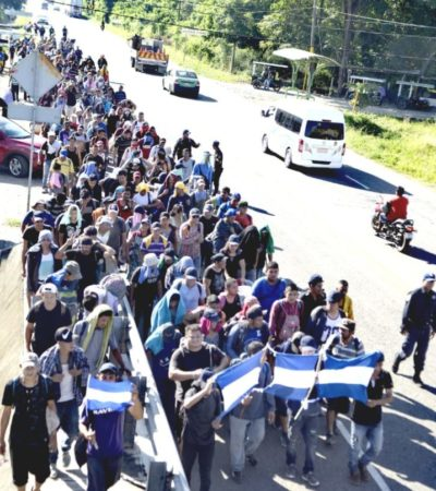 Avanza por Chiapas nueva caravana migrante; incluye a cubanos y haitianos