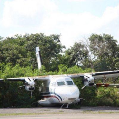 Investigan en Campeche hallazgo de avioneta y dos vehículos terrestres, además de 400 kilos de cocaína