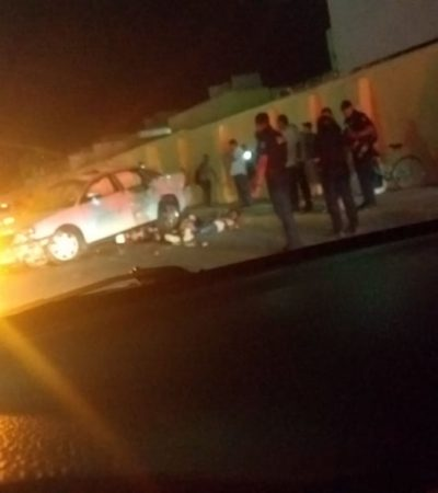 BALAZOS Y LOCA CARRERA EN VILLAS DEL SOL: Se estrella coche que huía con baleado a bordo