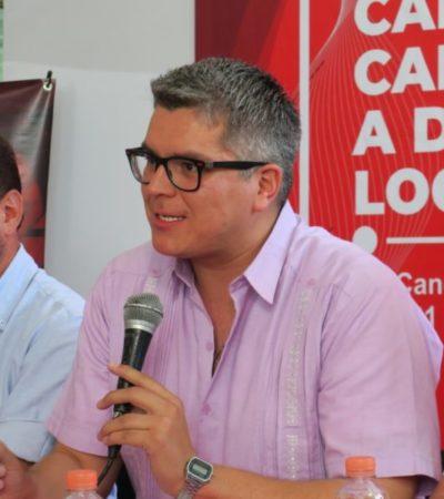 """""""El viejo PRI está en Morena, el nuevo PRI está en la cárcel, los verdaderos priístas aquí estamos dando la cara"""", dice Christopher James"""