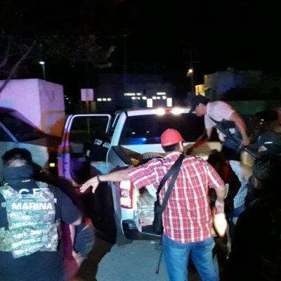 OPERATIVO EN LAVADERO DE COZUMEL: Detienen a cinco presuntos narcomenudistas e incautan drogas